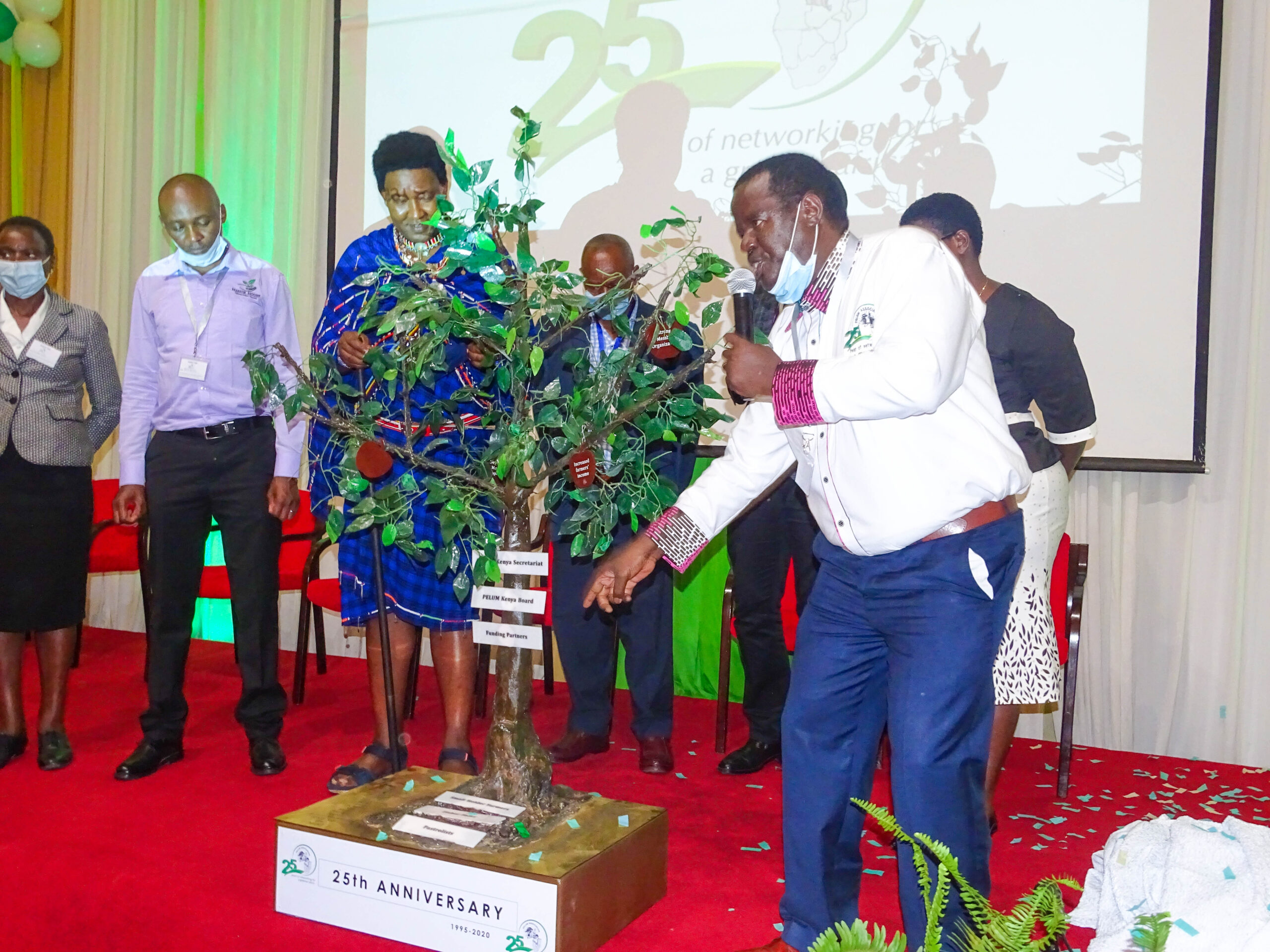 Unveiling of the symbolic tree monument during the PELUM Kenya's 25th Anniversary Celebrations